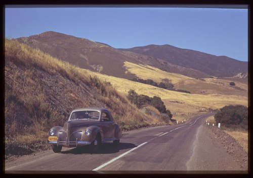 ID: P01859. 1940 Jun. 20. California's Hills along Morro bay - Atascadero Road.  Retrieved from: http://www.dlib.indiana.edu/collections/cushman/
