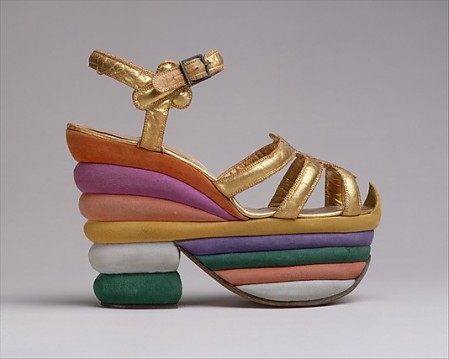 Salvatore Ferragamo Sandals. 1937. Italian. Retrieved from: metmuseum.org