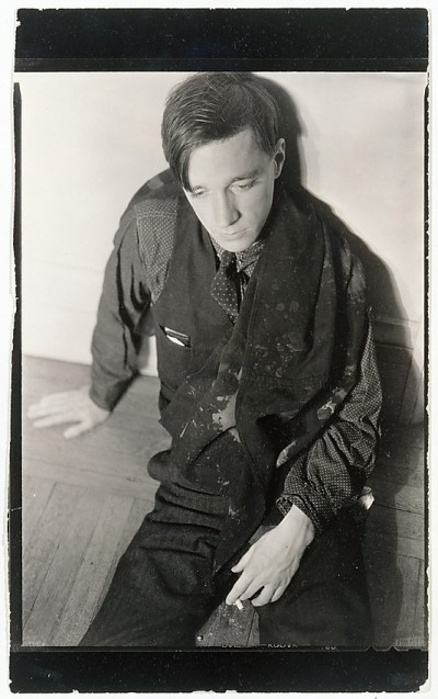 Self-portrait Seated on Floor, Holding Cigarette, 1930-1932. Evans, Walker (1903-1975).  Courtesy of Walker Evans Archive: www.metmuseum.org/