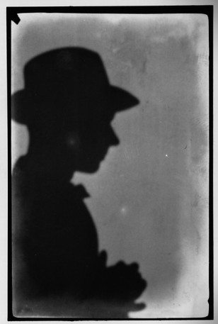 Shadow Self-Portrait Right Profile Wearing Hat,  January 1927. Courtesy of Walker Evans Archive: metmuseum.org