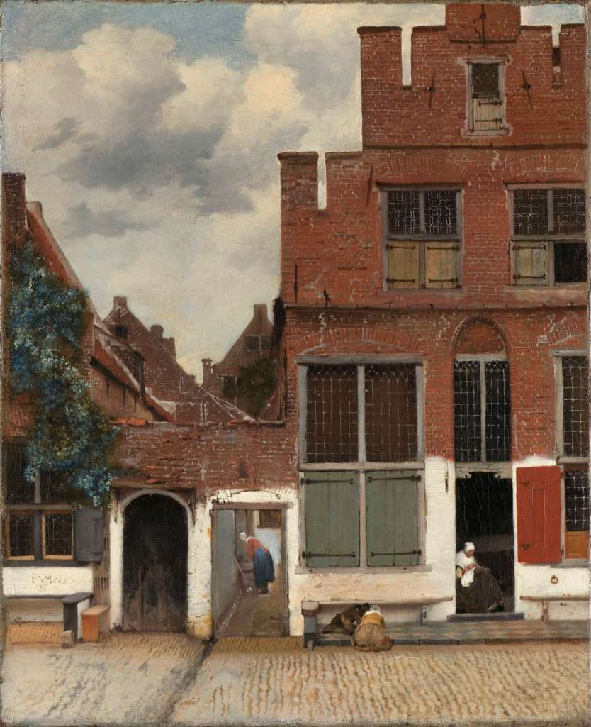 View of Houses in Delft, known as 'the street', Johannes Vermeer, ca 1658. Retrieved from: rijksmuseum.nl