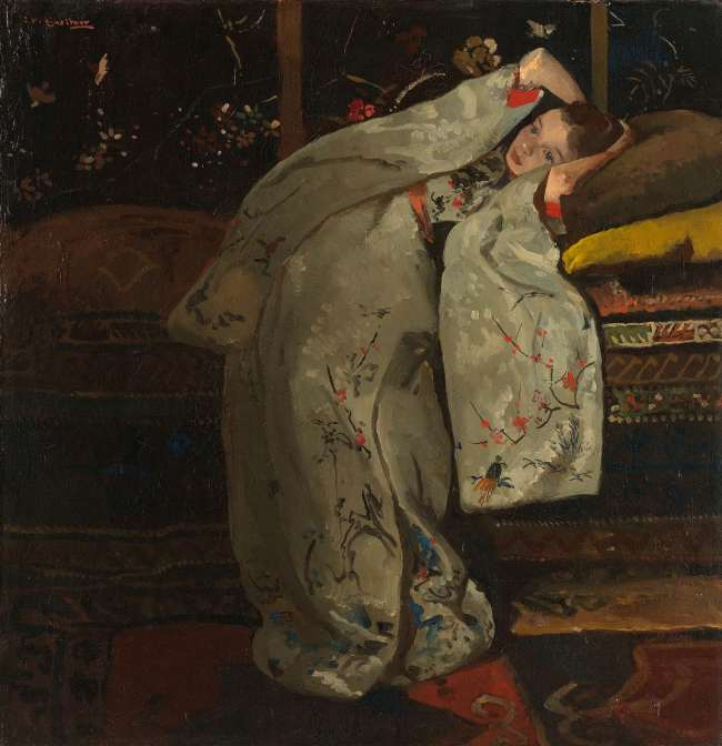 Girl in white kimono, George Hendrik Breitner, 1894.  Retrieved from: rijksmuseum.nl